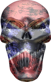 Confederate Flag Skull Decal / Sticker 04