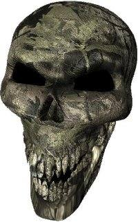 3D Backwoods Camouflage Skull Decal / Sticker