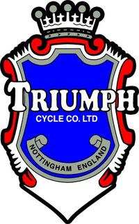 Triumph Crest Decal / Sticker 11