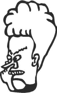 Beavis Decal / Sticker 02