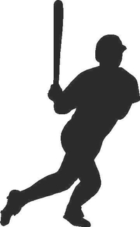 Baseball Player 03 Decal / Sticker