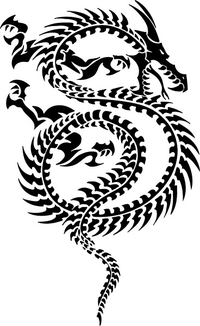 Tribal Dragon Decal / Sticker 15