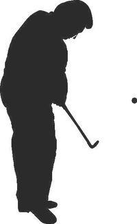 Golfer Golf Decal / Sticker 02