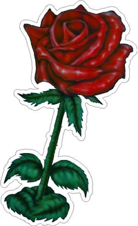 Rose Decal / Sticker 09