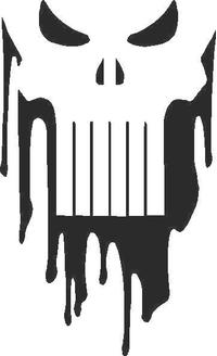 Punisher Decal / Sticker 08