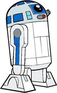 R2D2 Decal / Sticker 01