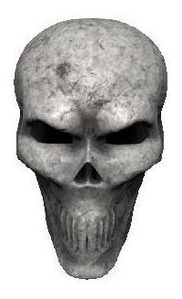 3D Bone Skull 03 Decal / Sticker
