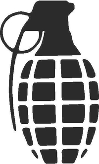 Grenade Decal / Sticker