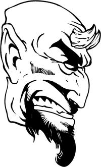 Devils Mascot Decal / Sticker