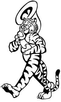 Tigers Playing Tuba Decal / Sticker
