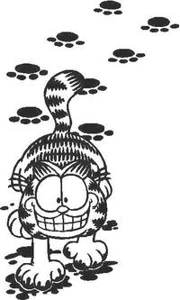 Garfield Decal / Sticker 03