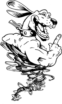 Dog Tornado Mascot Decal / Sticker