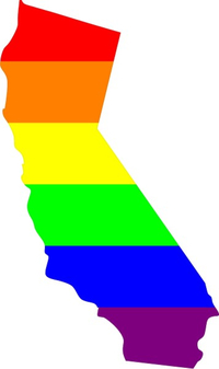 California State LGBT Flag Decal / Sticker 03