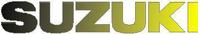 Black to Yellow Fade Suzuki Lettering Decal / Sticker