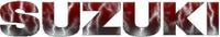 Red Lightning Suzuki Lettering Decal / Sticker