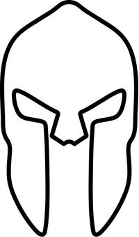 Spartan Helmet / Mask Decal / Sticker 02