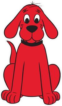 Clifford Big Red Dog Decal / Sticker 06