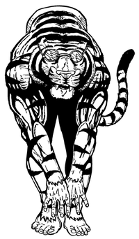 Swimming Tigers Mascot Decal / Sticker 1