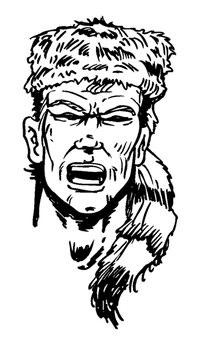 Frontiersman Mascot Decal / Sticker 2