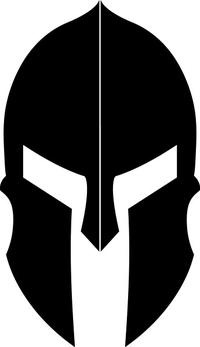Spartan Helmet / Mask Decal / Sticker 12