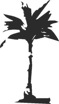 Palm Tree Decal / Sticker 01