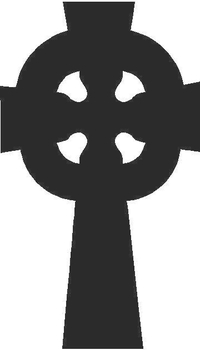 Celtic Cross Decal / Sticker 01