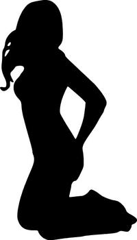 Sexy Stripper Girl Decal / Sticker
