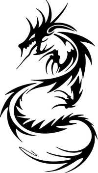 Tribal Dragon Decal / Sticker 10