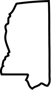Mississippi Outline Decal / Sticker 02