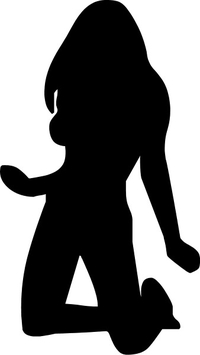 Sexy Girl Silhouette Decal / Sticker 03