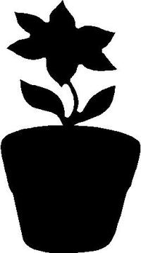 Flower Pot Decal / Sticker 02