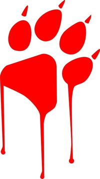 Bloody Paw Decal / Sticker 01