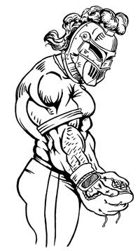 Baseball Knights Mascot Decal / Sticker 2