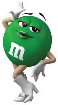 Green Female M&M Decal / Sticker 41