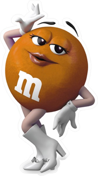 Orange Female M&M Decal / Sticker 63