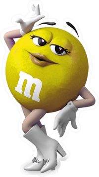 Yellow Female M&M Decal / Sticker 65