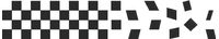 Checkered Flag Decal / Sticker 09