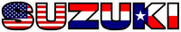 American Holland / Dutch / The Netherlands Texas Flag Suzuki Decal / Sticker 21