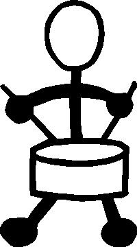 Drummer 01 Stick Figure Decal / Sticker