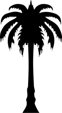Palm Tree Decal / Sticker 03