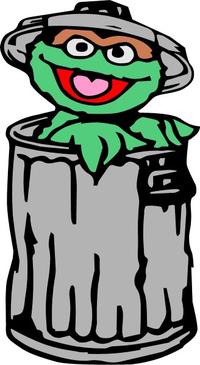 Oscar the Grouch Decal / Sticker 01