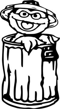 Oscar the Grouch Decal / Sticker 02