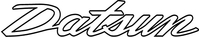 Datsun Lettering Decal / Sticker 08