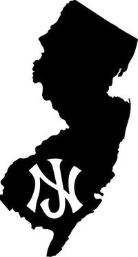 New Jersey Decal / Sticker 06