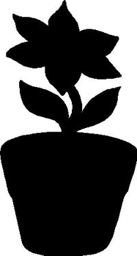 Flower Pot Decal / Sticker 01