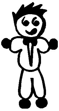 Tuxedo Guy Stick Figure Decal / Sticker