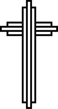 Christian Cross Decal / Sticker 73