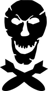 Bomb Skull Decal / Sticker 01