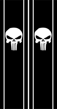 Punisher Truck Bed Stripes Decals / Stickers 02