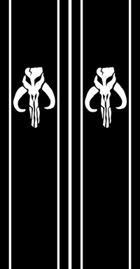 Star Wars Boba Fett Truck Bed Stripes Decals / Stickers 04